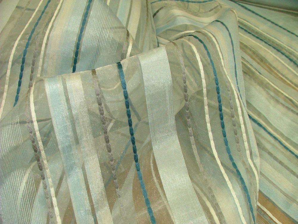 Ashley wilde ashby sky blue voile organza curtain window for Ashby windows