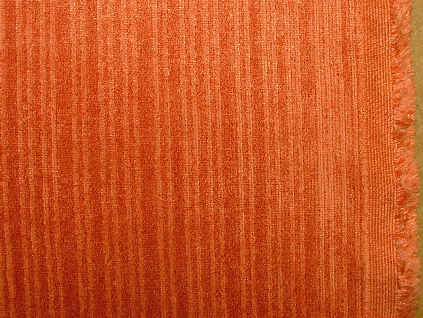 Burnt Orange Soft Pile Designer Velvet Curtain Upholstery Fabric