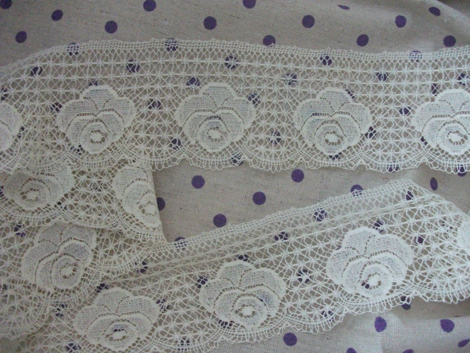Exclusive English Nottingham Cotton Cluny Lace Vintage