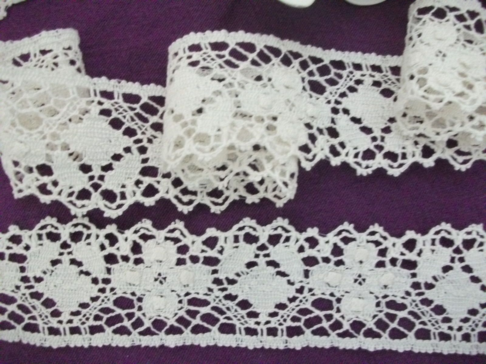 Made In England Genuine Cotton Cluny Lace Ivory Bone