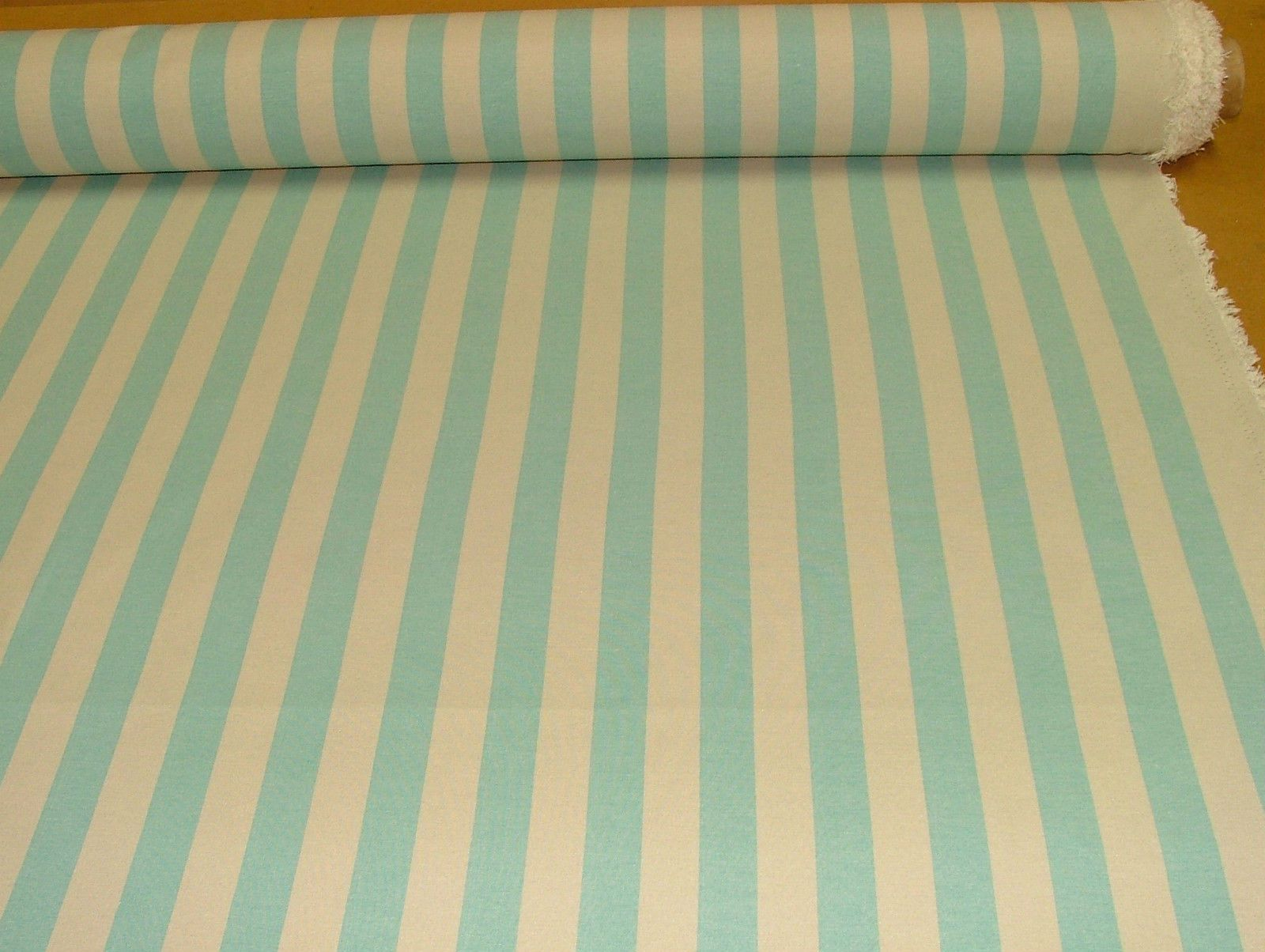 Prestigious textiles aqua calico ticking curtain for Ticking fabric