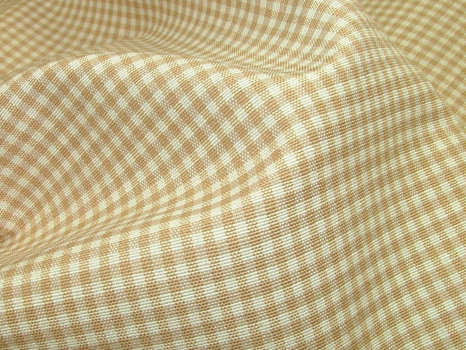 Prestigious Textiles Beige Gingham Curtain Soft Furnishing Fabric