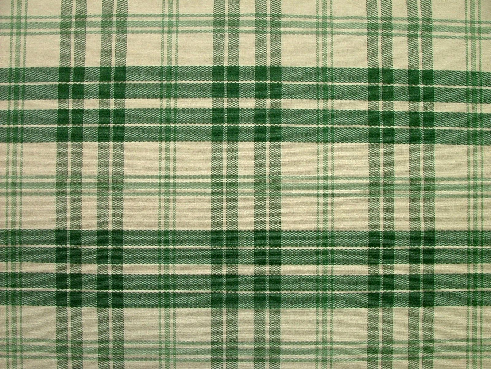 Prestigious Textiles Bottle Green Cream Check Curtain Soft