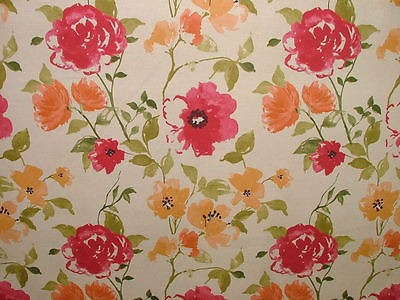 Ashley Wilde MARDEN CRIMSON FLORAL Curtain/Upholstery/Soft Furnishing Fabric
