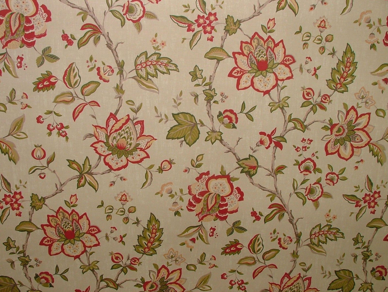 Ashley Wilde Wilton Raspberry Floral Curtain Upholstery