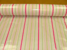 Ellacombe Sorbet Stripe PVC Oilcloth by Ashley Wilde