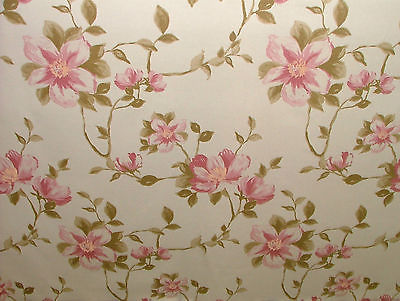 Exc Ashley Wilde JEMIMA BLUSH FLORAL Curtain/Upholstery/Soft Furnishing Fabric