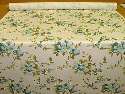 Exc Ashley Wilde JEMIMA TEAL FLORAL Curtain/Upholstery/Soft Furnishing Fabric