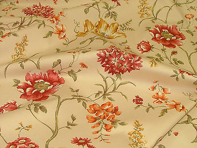 Exc Ashley Wilde LEDBURY RUST FLORAL Curtain /Upholstery /Soft Furnishing Fabric