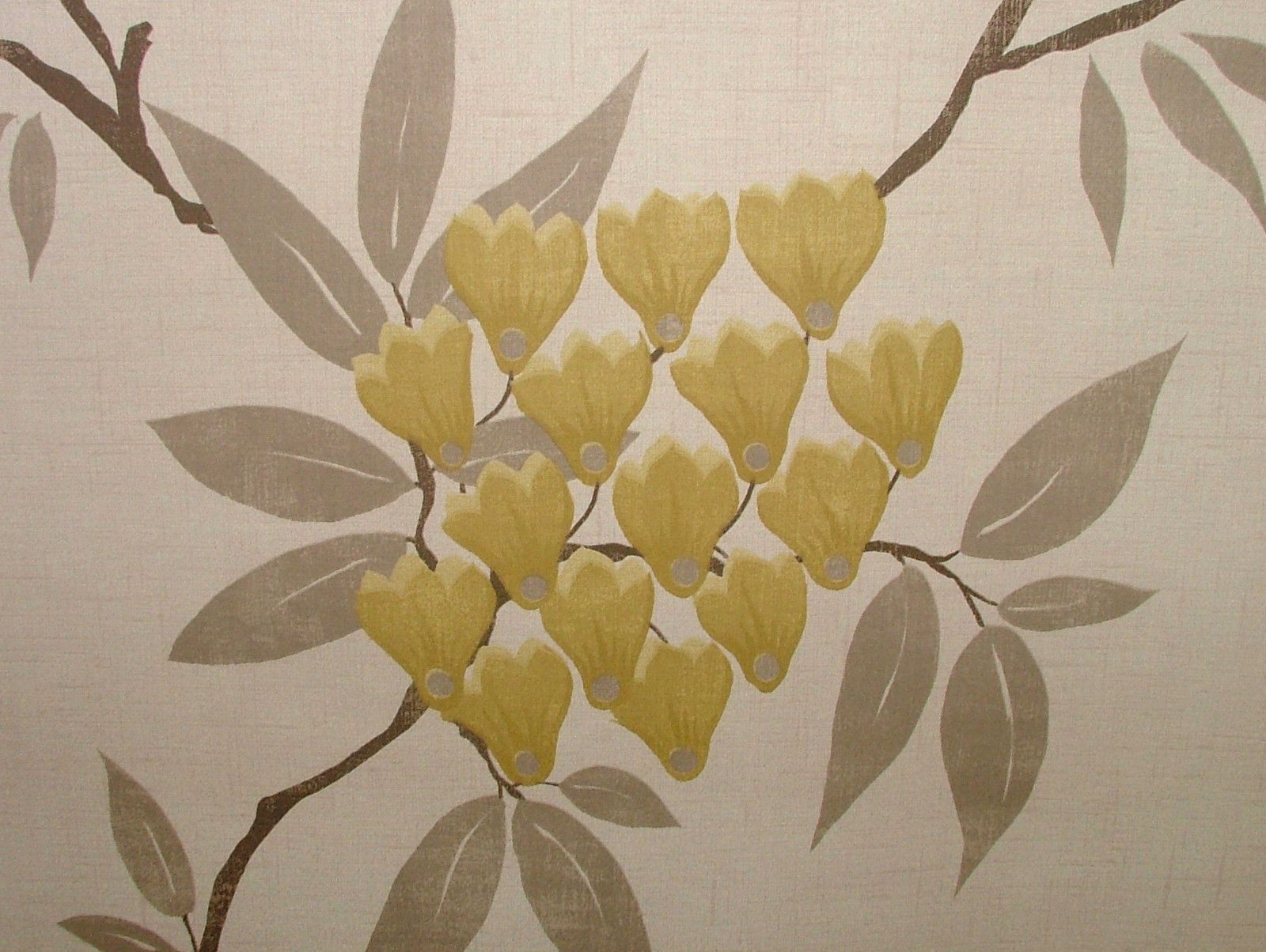 Exc Ashley Wilde Mliss Mimosa Floral Curtain Upholstery Soft
