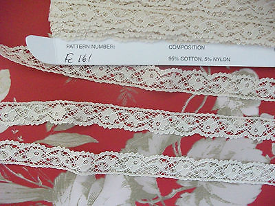 Exclusive English FC161 Ecru Cotton Nottingham Valencienne Lace by Cluny Lace Co