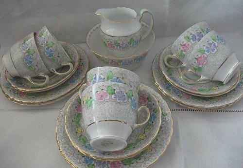Vintage Bone China Tea Set By Plant Tuscan