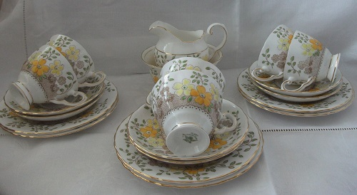 Vintage Bone China Tea set by Plant Tuscan